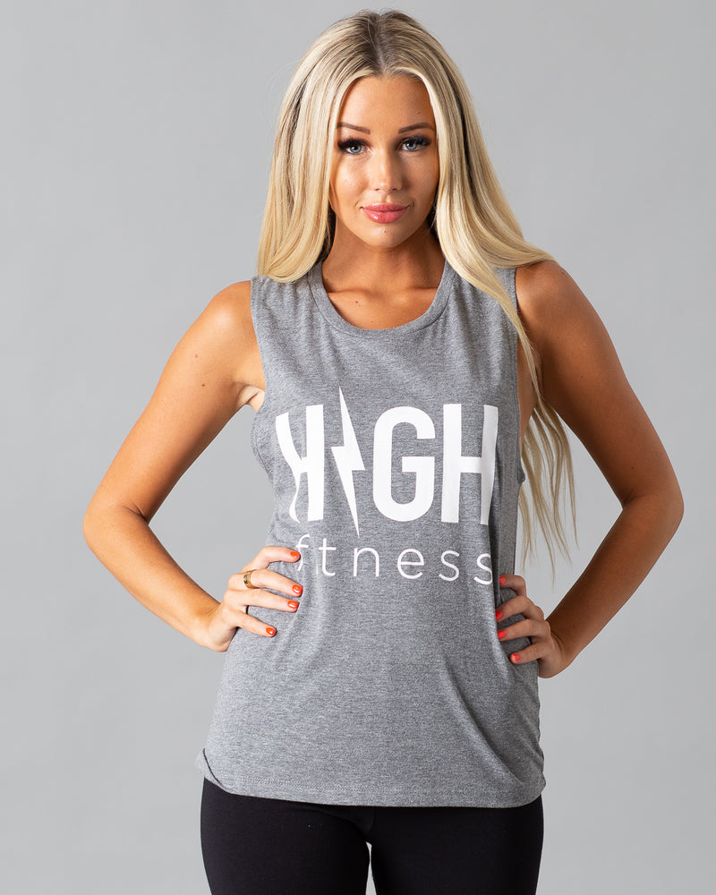 Summer Jams Muscle Tank | Athletic Gray