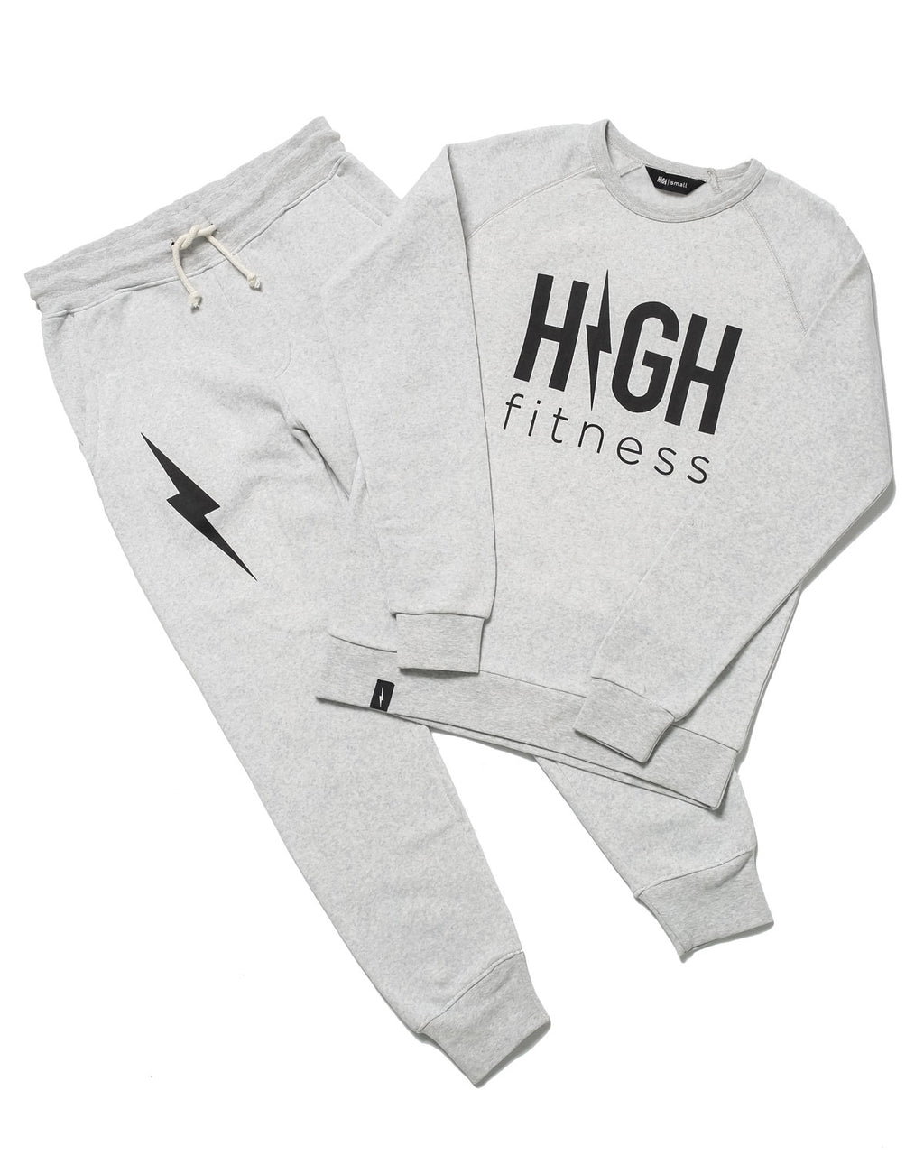 Classic HIGH Sweatshirt & Bolt Sweatpants | Oatmeal