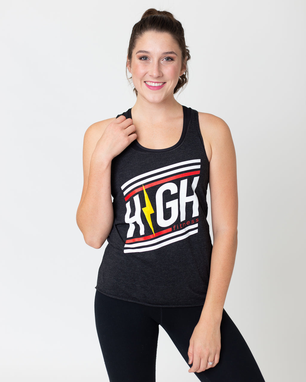 Striped Logo Racerback Tank