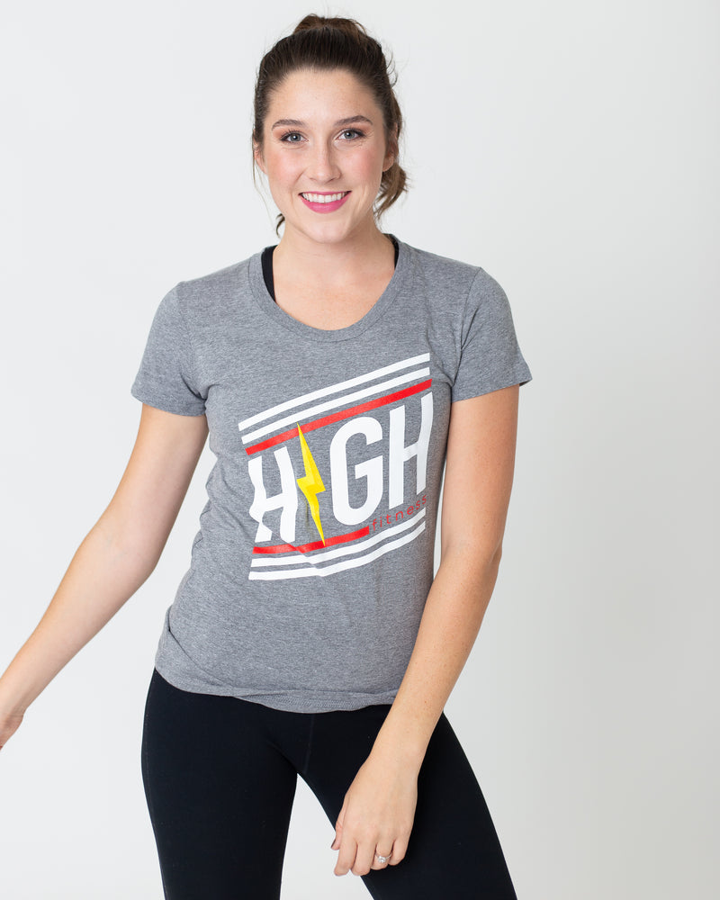 Striped Logo Women's Tee