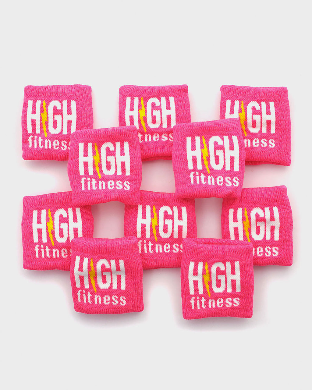 Pink High Fitness Sweatbands -10 Pack