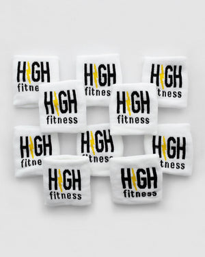 White High Fitness Sweatbands -10 Pack