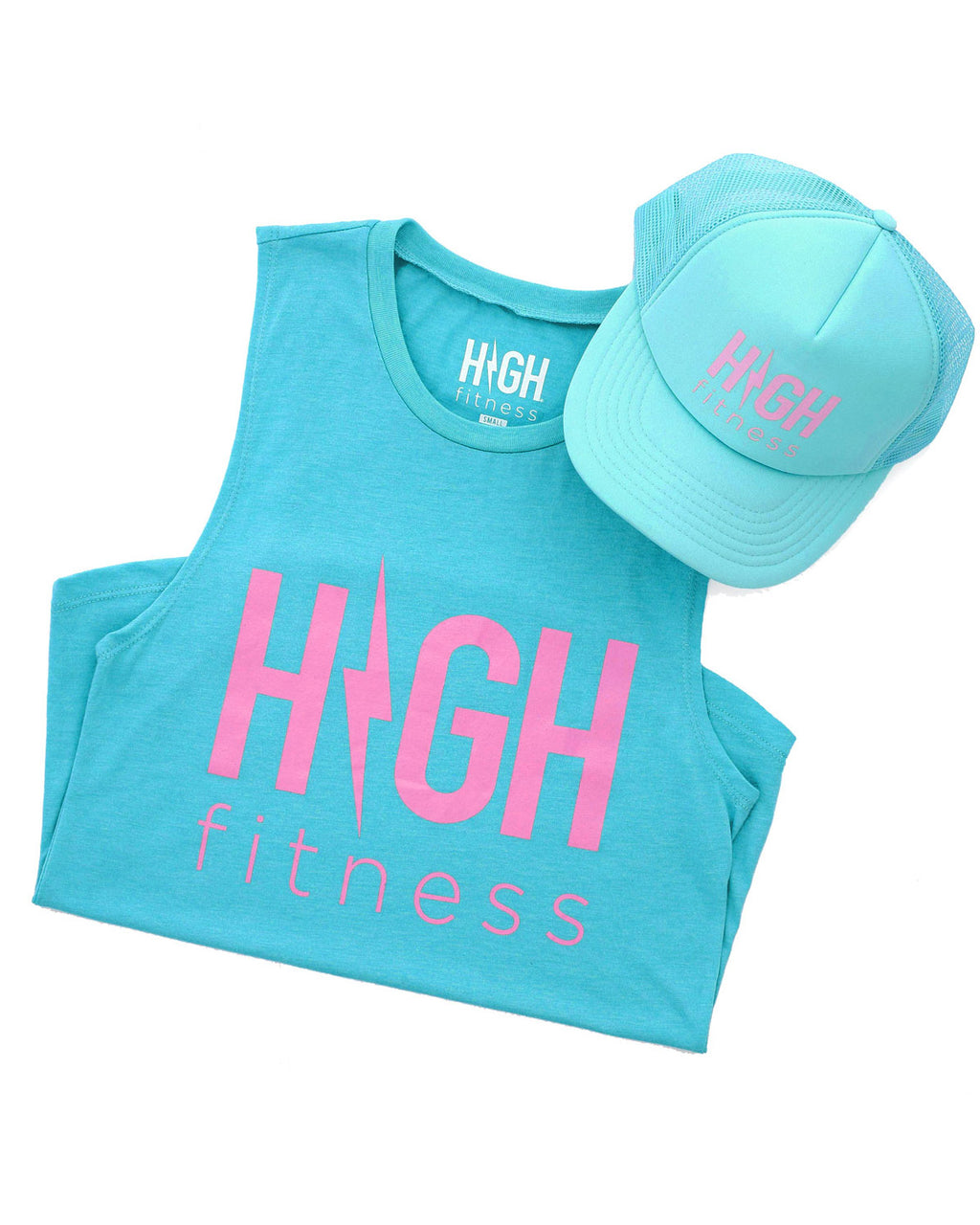 Summer Jams Tank & Hat Set | Teal
