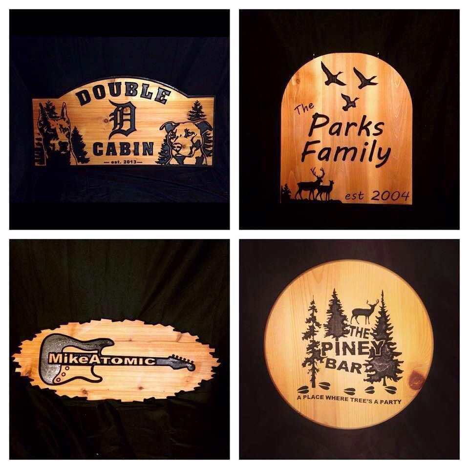 Custom Carved Cedar Signs