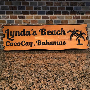"6""x22"" Custom Carved Cedar Sign"