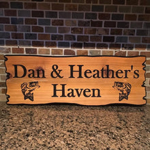 "Load image into Gallery viewer, 8""x22"" Custom Carved Cedar Sign"