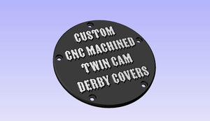 Custom CNC Machined Harley Twin Cam Derby Cover