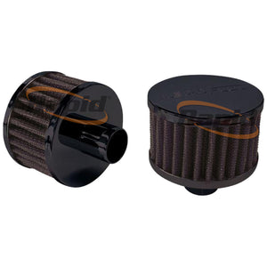 "1"" PUSH IN  BREATHER FILTER   3"" O.D,2"" H, BLACK TOP"