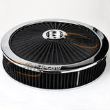 "Chrome Full Flow Air Filter Assembly with 1-1/8"" Drop base - AF2851-3040"