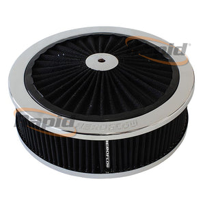 "Chrome Full Flow Air Filter Assembly with 5-1/8"" neck - AF2851-3150"