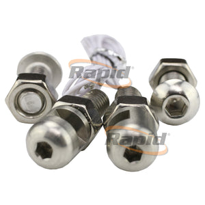 Stainless Steel Number Plate Bolts with built in Lights