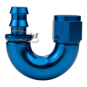 550 Series Cutter Style One Piece Swivel 180° Stepped Hose End