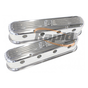 LS CHEV BILLET RETRO POLISHED VALVE COVERS, LS2 AND LS3 COIL