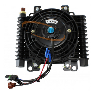 "10 x 7-1/2"" COMP TRANS COOLER WITH 120w FAN & SWITCH -10ORB"