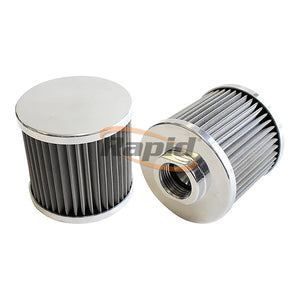 Stainless Steel Polished Billet Breather with Female Thread
