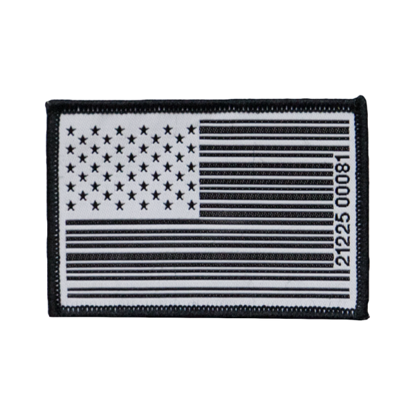 AMERICAN FLAG BARCODE PATCH