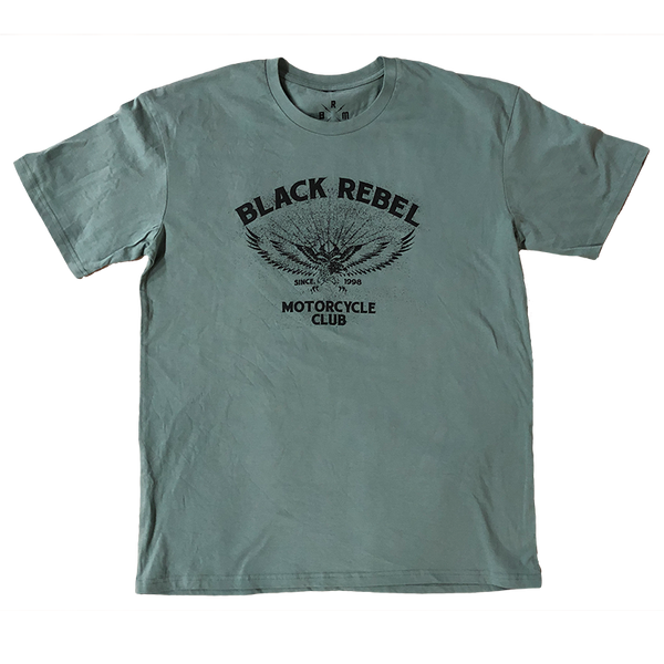 GREEN EAGLE GREY TEE