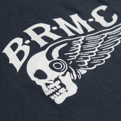 WINGED SKULL NAVY TEE