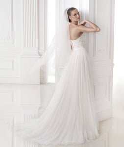 Newest Applique Lace Beading Bride Gown