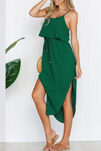Load image into Gallery viewer, Zraus Spaghetti Strap Side Slit Dress