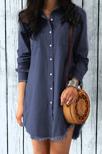Zraus Casual Cowboy Party Shirt Dress (3 colours)
