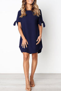 Zraus Casual Round Neck Length Dress