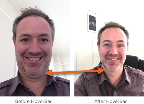 #12Days: HoverBar Solves Holiday Double-Chin Problem