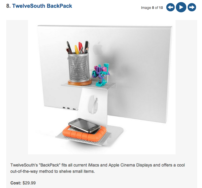 "MASHABLE: BackPack a ""Creative Office Storage Solution"""