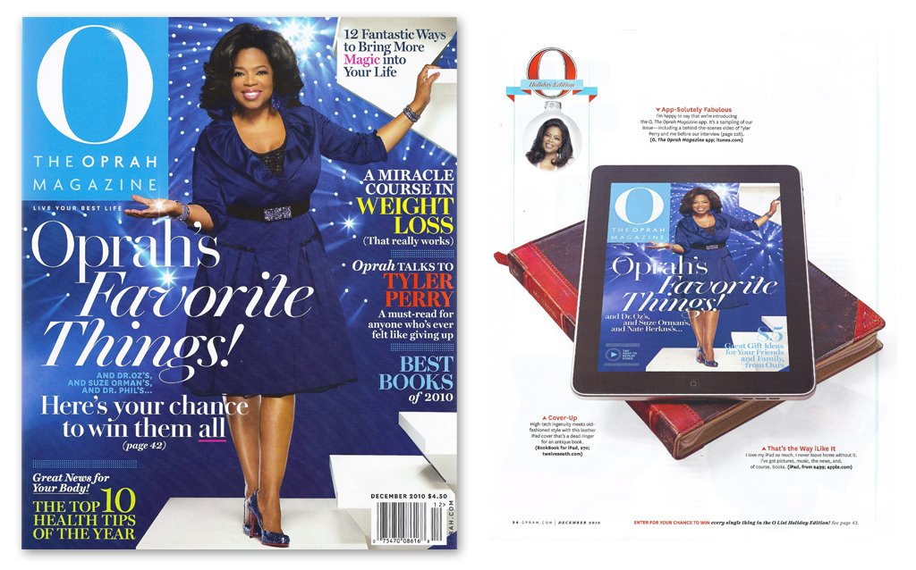 "BookBook for iPad one of Oprah's ""Favorite Things!"""
