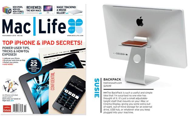 "Mac Life craves BackPack as ""a useful and simple idea"" for iMac or ACD"