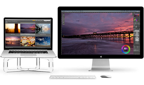 Twelve South GhostStand for MacBook dual screen set up