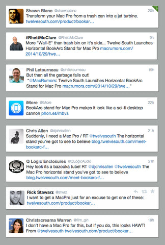 Twelve South BookArc for Mac Pro Twitter Comments