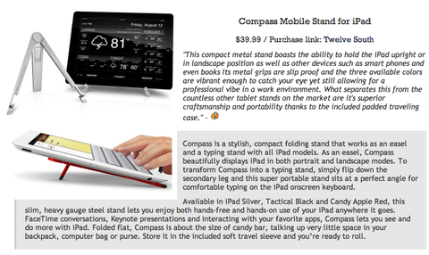 The Daily Blam featuring Twelve South BookBook for iPhone and Compass for iPad