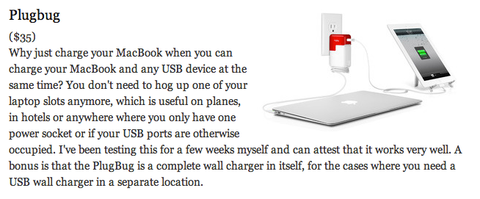 Life Hacker Gift Guide Stuff We Like featuring Twelve South BookBook for iPhone and PlugBug