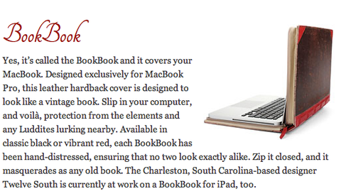 Fine Books and Collections featuring Twelve South BookBook for MacBook