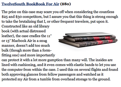 Forbes Reviews Twelve South BookBook for MacBook Air