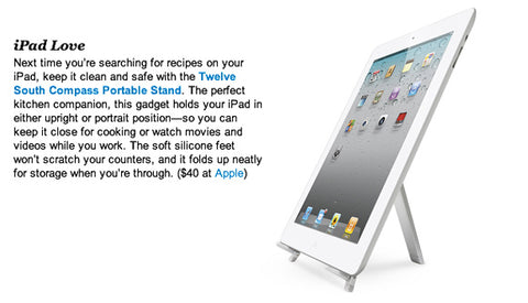 iVillage review Twelve South Compass for iPad