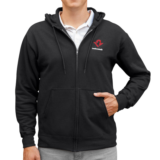 Twelve South Hoodie, Cotton Blend Full-Zip Hoodie - Twelve South
