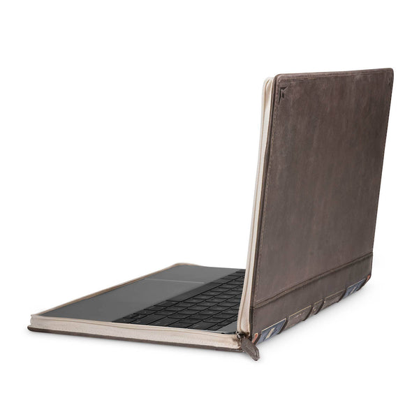 BookBook Vol. 2 for MacBook, Vintage leather case with document storage - Twelve South
