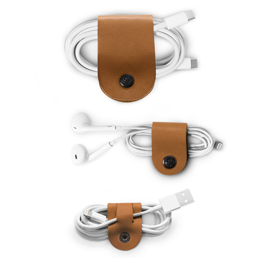 CableSnap, 3 pack of leather cable organizers - Twelve South