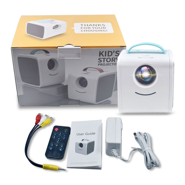 【Diskon 40%】Q2 Mini Projector Portable Projetor Home Theatre System - Meet lucky