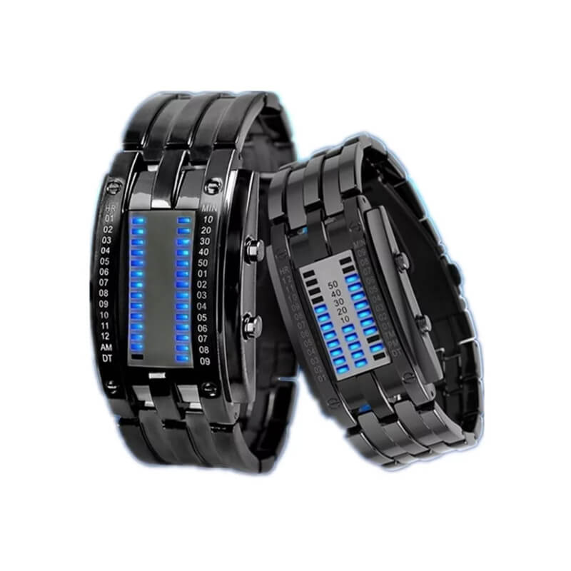 【Gratis Ongkir】Double row light binary LED electronic watch - Meet lucky