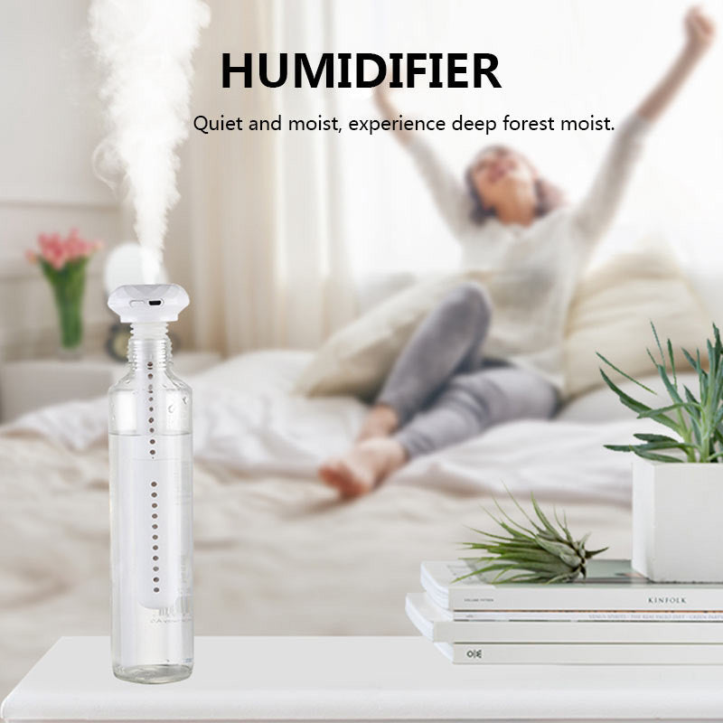 【Bisa COD】USB Portable Air Humidifier Diamond Bottle Aroma Diffuser Mist Maker For Home Office