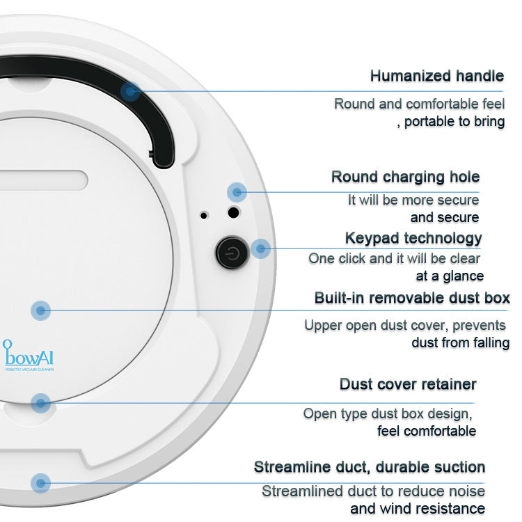 【Barang Terlaris 】Sweeping Cleaning Robot USB Charging Smart Vacuum Robot - Meet lucky