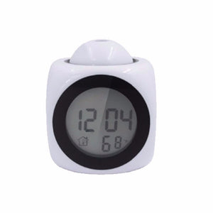 【Diskon 55%】LCD Projection LED Display Time Digital Alarm - Meet lucky