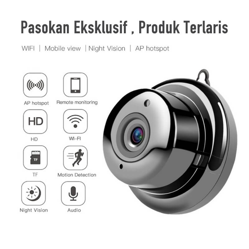 【Diskon 50%!!!】Wifi Nirkabel kamera HD Night Vision Rumah Pintar - Meet lucky