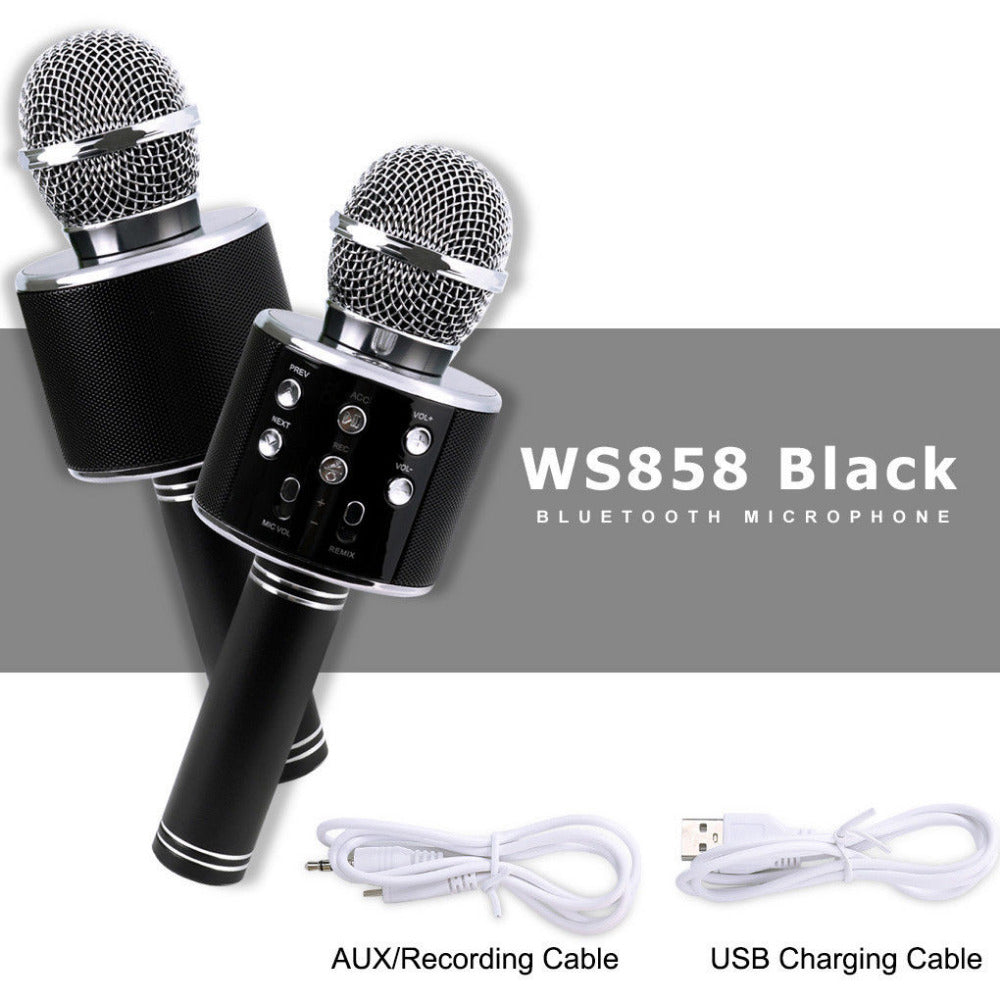 【Bisa COD!!!】Original Wster WS858  Magic Karaoke Microphone - Meet lucky
