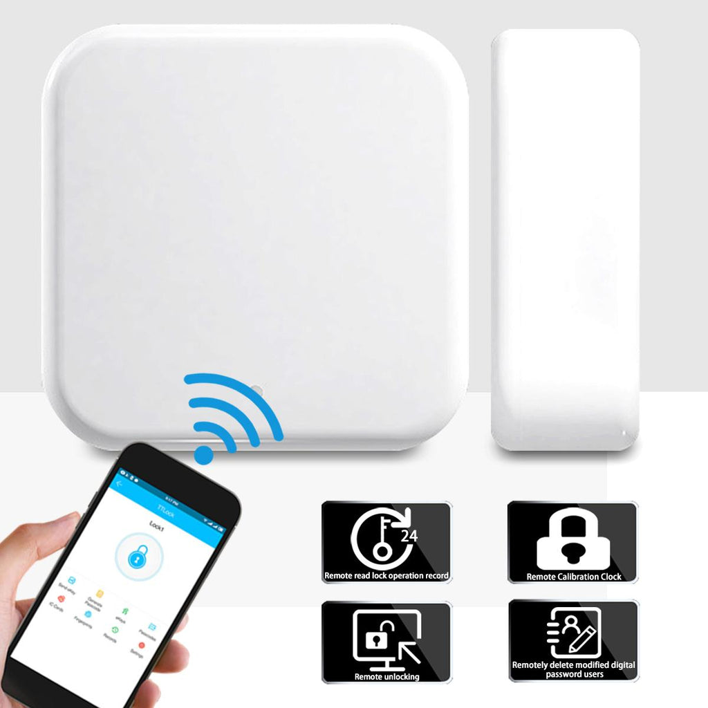 【Diskon】G2 TT Aplikasi Kunci Bluetooth Smart Pintu Elektronik Kunci Adaptor WIFI Kunci Gateway - Meet lucky