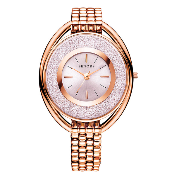 【Barang Terlaris】SENORS Jewelry watch waterproof fashion simple ladies quartz watch - Meet lucky