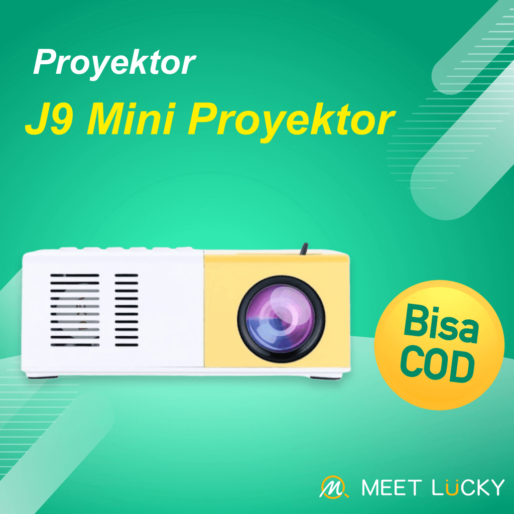 【Bisa COD!!!】Portable 1080P Mini Projector Home Theater Cinema Multimedia - Meet lucky